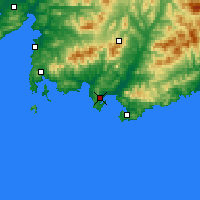 Nearby Forecast Locations - Nakhodka - Χάρτης