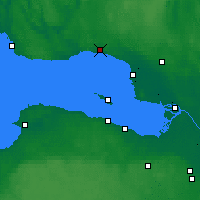 Nearby Forecast Locations - Zelenogorsk - Χάρτης