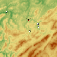 Nearby Forecast Locations - Ust-Katav - Χάρτης