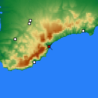 Nearby Forecast Locations - Αλούστα - Χάρτης