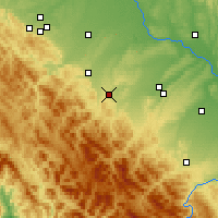 Nearby Forecast Locations - Dolyna - Χάρτης