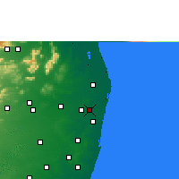 Nearby Forecast Locations - Ambattur - Χάρτης