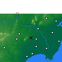 Nearby Forecast Locations - Guntur - Χάρτης