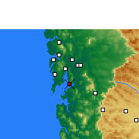 Nearby Forecast Locations - Navi Mumbai - Χάρτης