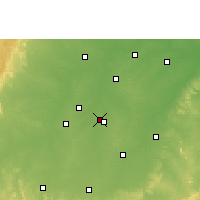 Nearby Forecast Locations - Raipur - Χάρτης