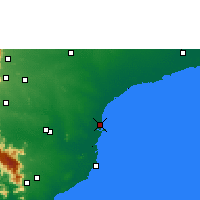 Nearby Forecast Locations - Thoothukudi - Χάρτης