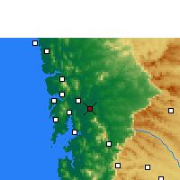 Nearby Forecast Locations - Ulhasnagar - Χάρτης