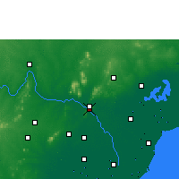 Nearby Forecast Locations - Vijayawada - Χάρτης