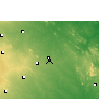Nearby Forecast Locations - Warangal - Χάρτης