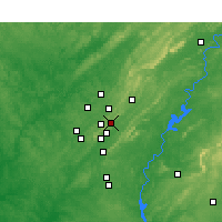 Nearby Forecast Locations - Mountain Brook - Χάρτης