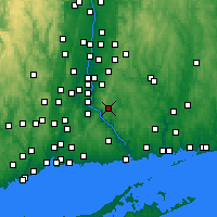 Nearby Forecast Locations - East Hampton - Χάρτης