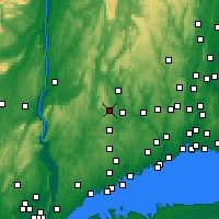 Nearby Forecast Locations - New Fairfield - Χάρτης