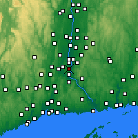 Nearby Forecast Locations - Rocky Hill - Χάρτης