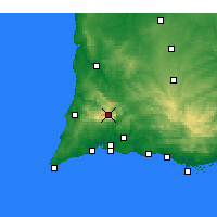 Nearby Forecast Locations - Monchique - Χάρτης