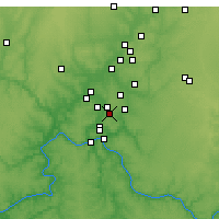 Nearby Forecast Locations - Blue Ash - Χάρτης