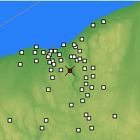 Nearby Forecast Locations - Brecksville - Χάρτης