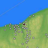 Nearby Forecast Locations - Cleveland Heights - Χάρτης