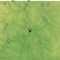 Nearby Forecast Locations - Coshocton - Χάρτης