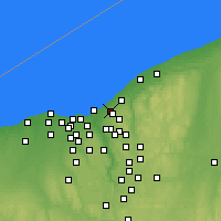 Nearby Forecast Locations - East Cleveland - Χάρτης