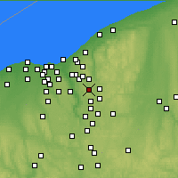 Nearby Forecast Locations - Twinsburg - Χάρτης