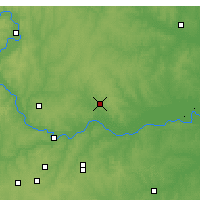 Nearby Forecast Locations - Excelsior Springs - Χάρτης