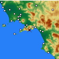 Nearby Forecast Locations - Αμάλφι - Χάρτης