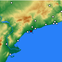 Nearby Forecast Locations - Salou - Χάρτης