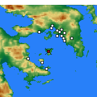 Nearby Forecast Locations - Αίγινα - Χάρτης