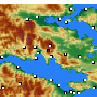 Nearby Forecast Locations - Αράχωβα - Χάρτης