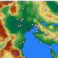 Nearby Forecast Locations - Χαλάστρα - Χάρτης