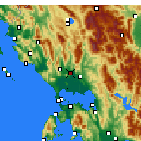 Nearby Forecast Locations - Φιλιππιάδα - Χάρτης