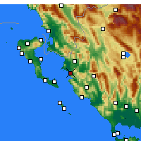 Nearby Forecast Locations - Ηγουμενίτσα - Χάρτης