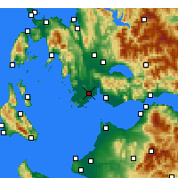 Nearby Forecast Locations - ος Οινιάδων - Χάρτης