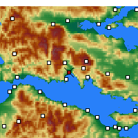 Nearby Forecast Locations - Ιτέα Φωκίδας - Χάρτης