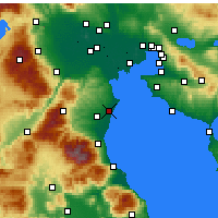 Nearby Forecast Locations - Κορινός - Χάρτης