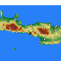Nearby Forecast Locations - ος Λάμπης - Χάρτης