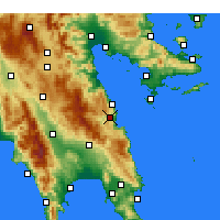 Nearby Forecast Locations - Λεωνίδιο Αρκαδίας - Χάρτης