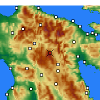 Nearby Forecast Locations - Λεβίδι Αρκαδίας - Χάρτης