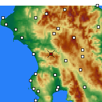 Nearby Forecast Locations - Ανδρίτσαινα Ηλείας - Χάρτης