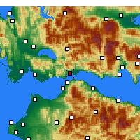Nearby Forecast Locations - Ναύπακτος - Χάρτης