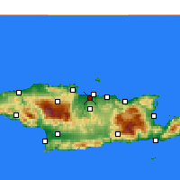 Nearby Forecast Locations - Νέα Αλικαρνασσός Ηρακλείου - Χάρτης