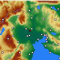 Nearby Forecast Locations - Πέλλα - Χάρτης