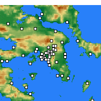 Nearby Forecast Locations - Παλαιό Ψυχικό - Χάρτης