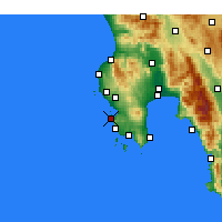 Nearby Forecast Locations - Πύλος - Χάρτης
