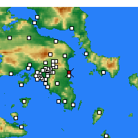 Nearby Forecast Locations - Ραφήνα - Χάρτης