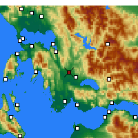 Nearby Forecast Locations - Στράτος Αιτωλοακαρνανίας - Χάρτης