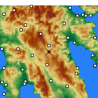 Nearby Forecast Locations - Τεγέα - Χάρτης