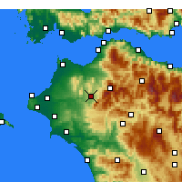 Nearby Forecast Locations - ος Τριταίας - Χάρτης