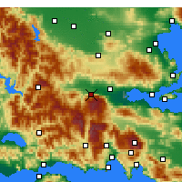 Nearby Forecast Locations - Υπάτη - Χάρτης