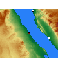 Nearby Forecast Locations - Ras Gharib - Χάρτης